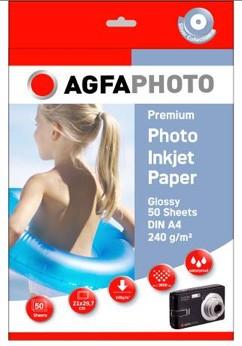 AGFAPHOTO Fotopapier, Silver Line, A4 240g/m2, 50 Blatt